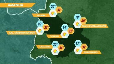 Tempo começa a mudar nesta sexta-feira no Paraná - Sábado ainda vai ser quente e a chuva deve chegar na região Oeste apenas no domingo.