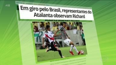 Atalanta observa Richard do Fluminense para reforçar elenco - Atalanta observa Richard do Fluminense para reforçar elenco.