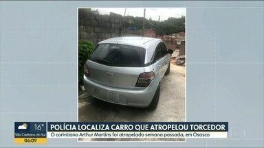 Carro que atropelou torcedor do Corinthians em Osasco é localizado - Advogado do motorista disse à polícia que ele vai se entregar na terça-feira (17).