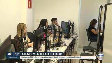 Mais uma unidade do TRE-MG começa a funcionar em BH - Um posto da Justiça Eleitoral foi montado dentro do Minas Shopping.