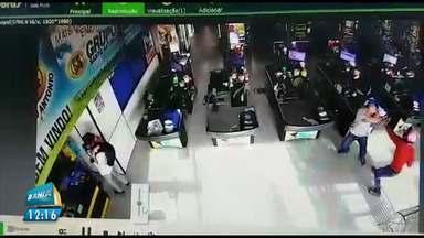 Flagrante: imagens mostram assalto a supermercado em Luís Eduardo Magalhães - O crime foi no fim de semana, mas as imagens foram divulgadas agora.