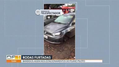 Rodas de carro são furtadas em estacionamentos do Plano Piloto - Segundo a Polícia Militar, em vários casos as quadrilhas que praticam esse tipo de crime são reincidentes - são presas, mas saem rapidamente da cadeia e voltam a furtar.