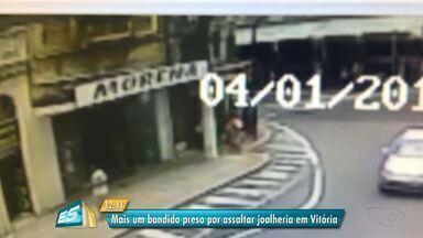 Terceiro suspeito de assaltar joalheria é preso no ES - Crime aconteceu em janeiro deste ano.
