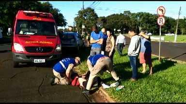 Em menos de quatro meses, mulher se acidenta pela segunda vez - Desta vez o acidente foi na região da Vila A