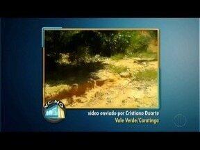 VC no MG Inter TV: Morador cobra pavimentação de rua em distrito de Caratinga - Cobrança também para asfaltamento em Nanuque.