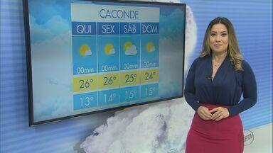 Veja como fica o tempo em São Carlos e região nesta quinta-feira (19) - Veja como fica o tempo em São Carlos e região nesta quinta-feira (19).