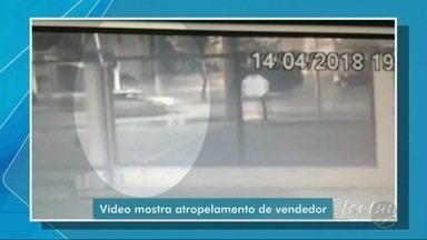 Vídeo mostra carro de médica atropelando vendedor - Vídeo mostra carro de médica atropelando vendedor.