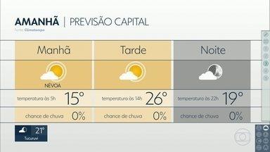 Previsão é de tempo seco e mínima de 15ºC para esta sexta-feira em SP - Fim de semana deve ser de tempo firme e temperaturas amenas na Capital.