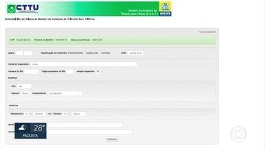 Boletins de ocorrência de acidentes sem vítima no Recife passam a ser feitos na internet - Serviço disponível no site da CTTU começou nesta quinta (19).