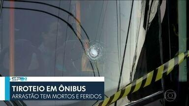 SP2 - Edição de quinta-feira, 19/04/2018 - Arrastão dentro de um ônibus em Jabaquara, na Zona Sul, termina com sete pessoas baleadas. PM de folga reagiu ao assalto e trocou tiros com os bandidos dentro do coletivo lotado. E mais as notícias do dia.
