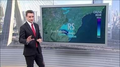 Rio Grande do Sul volta a ter chuvas - No Recôncavo Baiano a sexta-feira (20) também será chuvosa.