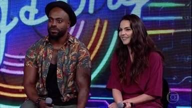 Taina Müller e Thiago Tomé não acertam a primeira campainha - Os atores não reconheceram a música