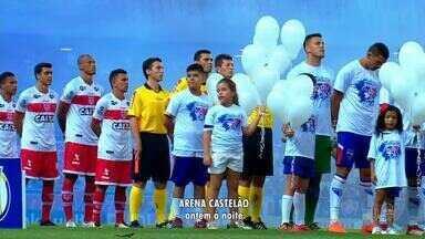 Fortaleza realiza homenagem a diretor morto antes de partida contra CRB - Saiba mais em g1.com.br/ce