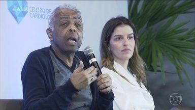 Encontro alerta sobre hipertensão - Objetivo foi conscientizar para a importância do controle da pressão arterial. O cantor Gilberto Gil está entre os 36 milhões de brasileiros que têm hipertensão e é o embaixador da causa.