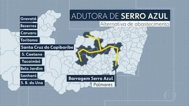 Dez cidades do Agreste vão receber as águas do Rio Una - Governador Paulo Câmara assinou a ordem de serviço para a construção da Adutora de Serro Azul.