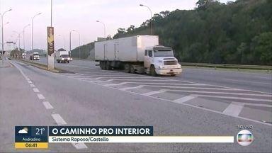 Bom Dia SP mostra a situação das estradas nesta véspera de feriadão - Giro pelas estradas mostra a situação ao vivo