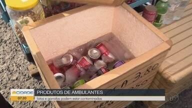 Pesquisa mostra risco de contaminação com latas e garrafas de águas em vendas ambulantes - Pesquisa mostra risco de contaminação com latas e garrafas de águas em vendas ambulantes