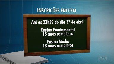 Inscrições do Encceja terminam hoje para jovens e adultos - Esta é a chance para quem não conseguiu concluir o ensino fundamental e médio