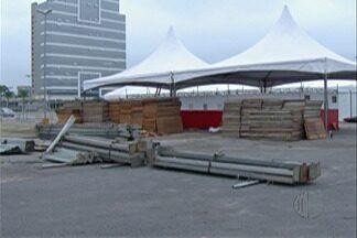 Festa do Divino de Mogi terá nova disposição de barracas - A estrutura da quermesse está quase completa e, além da nova disposição de barracas, o evento também vai ter uma quantidade maior de banheiros.