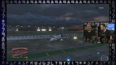 Gaveta e Leifert jogam GTA - Convidado se diverte com jogo