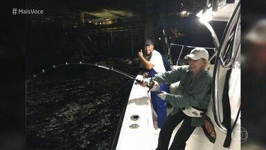 Ana Maria mostra imagens de sua pescaria em alto mar - Apresentadora conta que ficou mais de 24 horas em uma lancha para a aventura no litoral norte de São Paulo