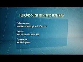 Prazo para convenções em Guanhães, Pocrane e Ipatinga é até o sábado (5) - Eleições suplementares será em 03 de junho.