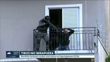 Bandidos trocam tiros com guarda no Ibirapuera e fazem refém - Bandidos roubaram uma viatura da guarda civil metropolitana, invadiram uma casa e fizeram uma refém perto do parque Ibirapuera.