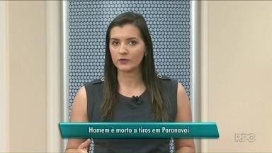 Polícia investiga se dois assassinatos no mesmo bairro têm relação em Paranavaí - Jovens foram mortos por atiradores. No crime na noite desta segunda (30), vítima estava na calçada.