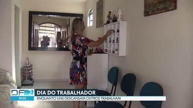 Dia do trabalhador - Milhares de brasilienses madrugaram para trabalhar neste feriado.