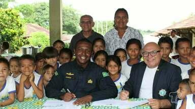 Soamar recebe apoio da Capitania Fluvial para visitar as comunidades ribeirinhas - O projeto educacional que orientar sobre a importância dos equipamentos de salvatagem começou a despertar interesse de autoridades em outros estados