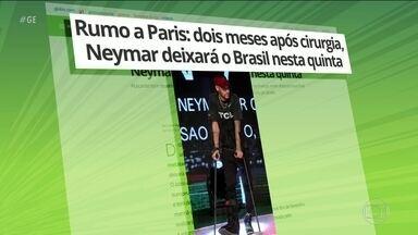 Neymar se prepara para retorno à França sois meses após cirurgia - Neymar se prepara para retorno à França sois meses após cirurgia.