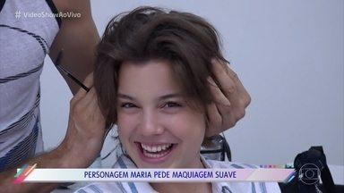 Alice Wegmann mostra dia de gravação na Paraíba - Atriz conversa com o 'Vídeo Show' enquanto se caracteriza como Maria de 'Onde Nascem os Fortes'