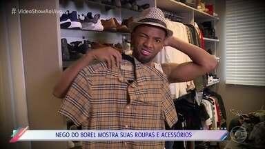 Nego do Borel abre seu closet para Fernanda Keula - Cantor mostra todo seu estilo nas roupas e acessórios. Nego fala sobre os tempos que desfilava com roupas emprestadas