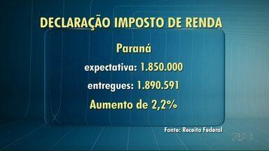 Paraná supera previsão de entregas de declarações de imposto de renda - A expectativa era de 1 milhão e 850 mil declarações, o total entregue foi de mais de 1 milhão 890 mil.