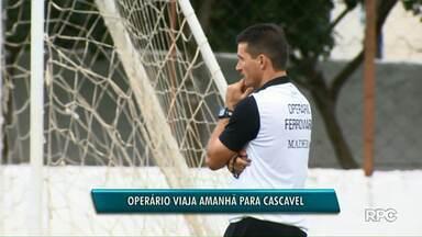Operário enfrenta o time do Cascavel na quarta-feira - Nesta segunda-feira teve treino pra preparar a equipe