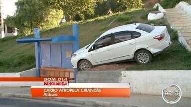 Estudantes são atropelados por carro desgovernado em Atibaia - Uma das meninas. de 12 anos, está internada em estado grave.
