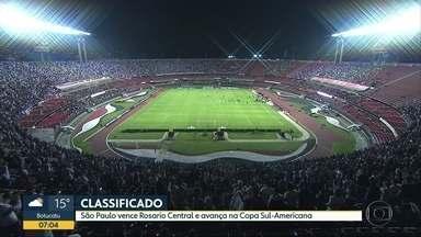 Os gols de São Paulo e Palmeiras - Vitória contra o Rosario Central classifica Tricolor na Sul-Americana. Já o Verdão abre vantagem contra o América-MG na Copa do Brasil