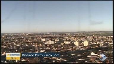 Temperatura máxima chega a 29°C nesta quinta-feira (10) em Ribeirão Preto - Não há previsão de pancadas de chuva.