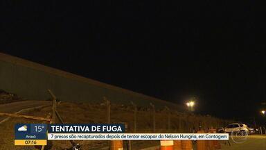 Agentes da Penitenciária Nelson Hungria impedem nova tentativa de fuga de presos - Segundo agentes, sete presos tentaram fugir do pavilhão 1.