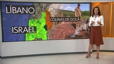 Israel acusa Irã de disparar 20 mísseis contra Colinas de Golã - Israel acusou a Guarda Revolucionária do Irã de disparar na madrugada desta quinta (10), 20 mísseis contra Colinas de Golã. Em resposta, Israel bombardeou posições do Irã na Síria.