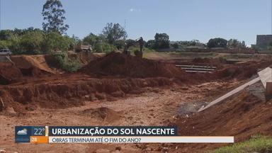 Moradores do Sol Nascente sofrem com a poeira das obras - GDF diz que o calendário de urbanização está mantido e que até o fim do ano os trabalhos serão finalizados nos trechos do setor habitacional de Ceilândia.