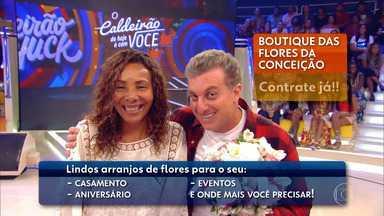"""Hoje """"O caldeirão é com você"""" terá a participação de Conceição Aparecida - Conceição Aparecida faz divulgação do seu negocio de arranjo de flores"""