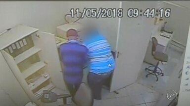 Trio armado invade e assalta agência dos Correios em Pratânia - Câmeras de segurança flagraram a ação de três criminosos durante um assalto na agência dos Correios em Pratânia.