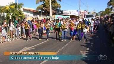 Aparecida de Goiânia comemora 96 anos de fundação, em Goiás - Data foi celebrada com desfile cívico.