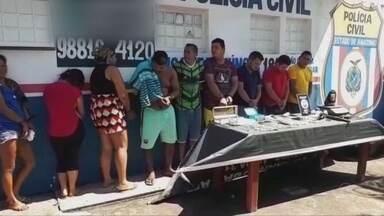 Operação policial é realizada no município de Iranduba - Foram presas 10 pessoas.
