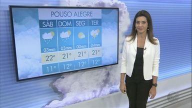 Confira a previsão do tempo para este sábado (12) no Sul de Minas - Confira a previsão do tempo para este sábado (12) no Sul de Minas