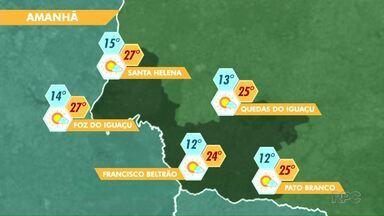 Temperaturas devem cair na região - Veja a previsão no mapa.