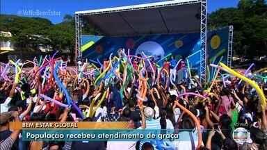 Bem Estar Global é realizado em Goiânia - Centenas de pessoas passaram pelo evento e fizeram exames.