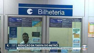 Justiça suspende aumento da passagem de metrô em Belo Horizonte - O reajuste era de quase 90%. A CBTU ainda não foi notificada sobre a decisão judicial.