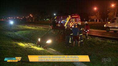 Acidentes no contorno sul, em Curitiba, deixam uma pessoa morta e duas feridas - Em um dos casos um homem tentava atravessar a pista quando foi atingido por um carro em alta velocidade.